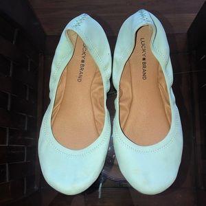 Size 8 Lucky Brand ballet flats worn once!